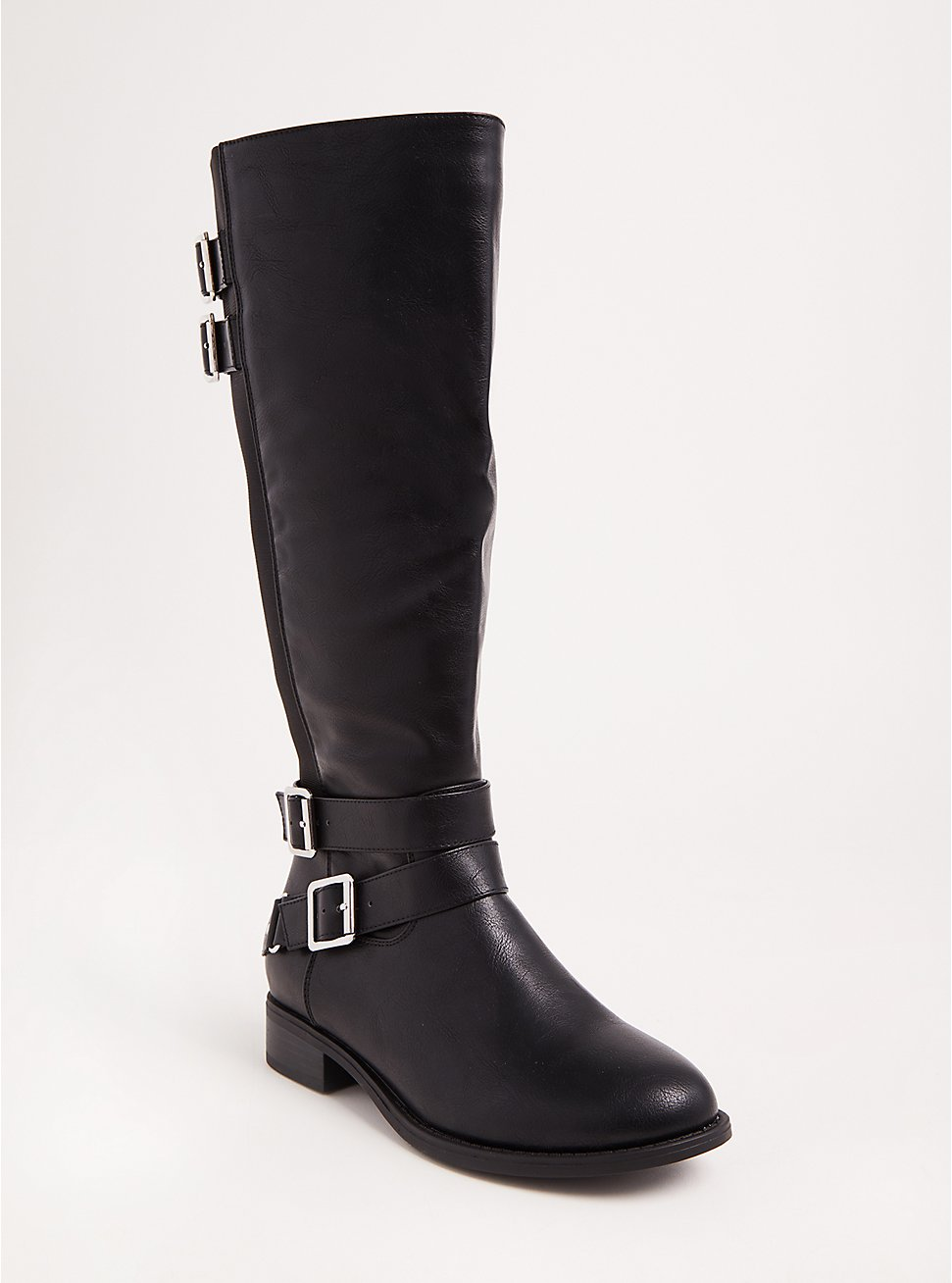 Black Faux Leather Tall Boots (WW & Wide To Extra Wide Calf), BLACK, hi-res