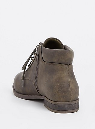 Plus Size Olive Faux Leather Lace-Up Boot (WW), OLIVE, alternate