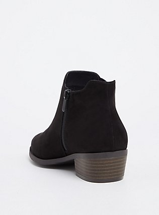 Black Faux Suede Ankle Boot (WW), BLACK, alternate
