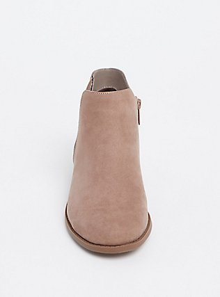 Taupe Faux Suede Elastic Bootie (WW), TAN/BEIGE, alternate
