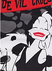 Disney Villains Cruella Black Cotton Boyshort Panty, MULTI, alternate