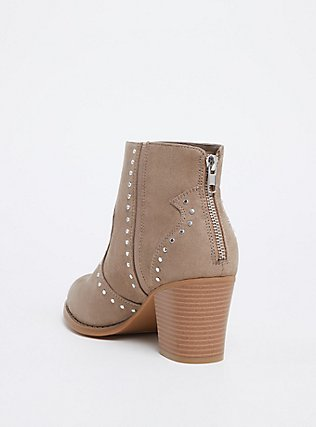 Taupe Faux Suede Studded Bootie (WW), TAN/BEIGE, alternate