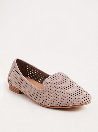Taupe Perforated Loafer (WW), TAN/BEIGE, hi-res