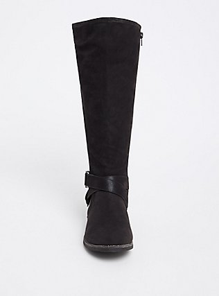 Black Brushed Faux Leather Tall Boot (WW & Wide to Extra Wide Calf), BLACK, alternate