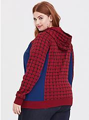 Plus Size Her Universe Marvel Spiderman Red & Blue Zip Hoodie, MULTI, alternate