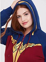 Her Universe DC Comics Wonder Woman Red & Blue Zip Hoodie, MULTI, alternate