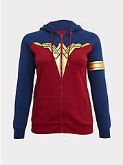 Her Universe DC Comics Wonder Woman Red & Blue Zip Hoodie, MULTI, hi-res