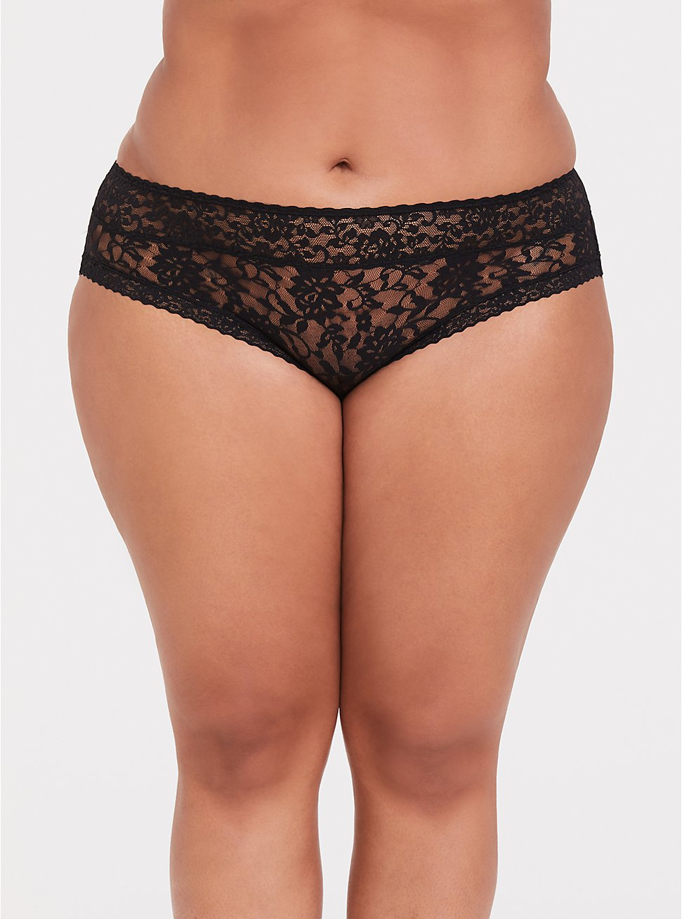 Black Lacey Hipster Panty, RICH BLACK, hi-res