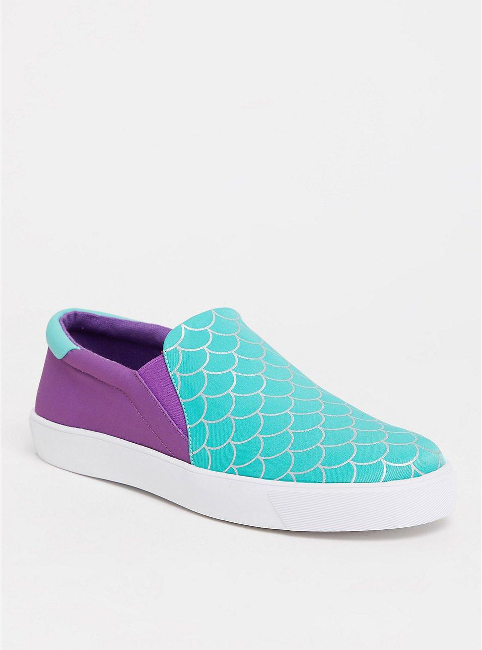 Disney The Little Mermaid Ariel Slip-On Sneaker (WW), GREEN, hi-res