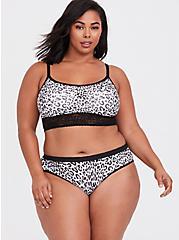 White & Black Leopard Seamless Lightly Padded Bralette, , alternate