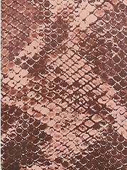Snakeskin Print Mesh Long Sleeve Under-It-All Crop Top, , alternate