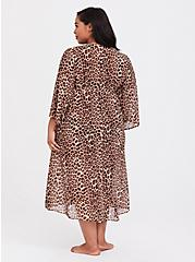 Leopard Chiffon Sleep Robe, , alternate