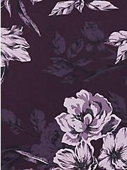 Grape Purple Floral Wide Lace Cotton Hipster Panty, FLORALS-PURPLE, alternate