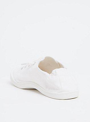 Plus Size White Ruched Sneaker (WW), WHITE, alternate
