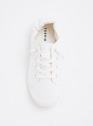 White Ruched Sneaker (WW), WHITE, alternate