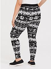Plus Size Disney The Nightmare Before Christmas Black Fair Isle Sweater Legging, MULTI, alternate