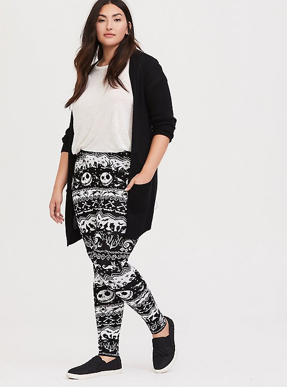 Plus Size Disney The Nightmare Before Christmas Black Fair Isle Sweater Legging, , hi-res