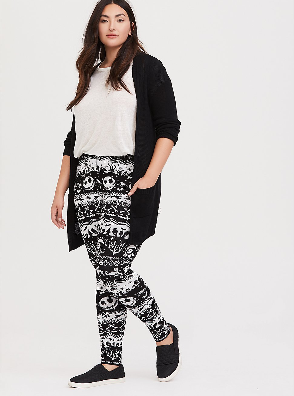 Plus Size Disney The Nightmare Before Christmas Black Fair Isle Sweater Legging, MULTI, hi-res