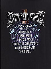 Plus Size Disney Nightmare Before Christmas Pumpkin King Black Mineral Wash Hoodie, DEEP BLACK, alternate