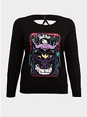 Disney Villains Ursula Lattice Back Sweatshirt, DEEP BLACK, hi-res