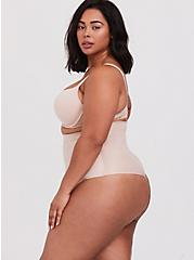 Plus Size SPANX® - Suits You Fancy High-Waisted Thong Panty, NUDE, alternate