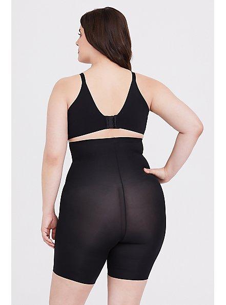 Plus Size SPANX® Thinstincts Black High Waisted Mid-Thigh Short, BLACK, alternate