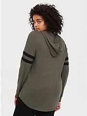 Game On Olive Green Strappy Football Hoodie, DEEP DEPTHS, alternate