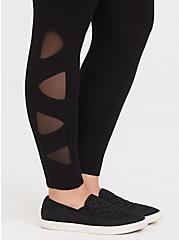 Premium Legging - Lattice Side Black, BLACK, alternate