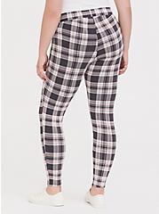Premium Legging - Plaid Grey & Pink, RETRO PLAID, alternate