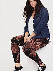 Premium Legging - Floral Black, MULTI FORAL, alternate