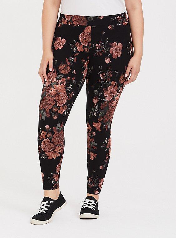 Premium Legging - Floral Black, , hi-res