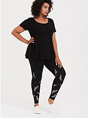 Premium Legging - Feather Graphic Black, MULTI, alternate