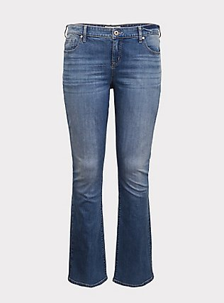 Slim Boot Jean - Vintage Stretch Light Wash, SOUTHERN BLUES, flat