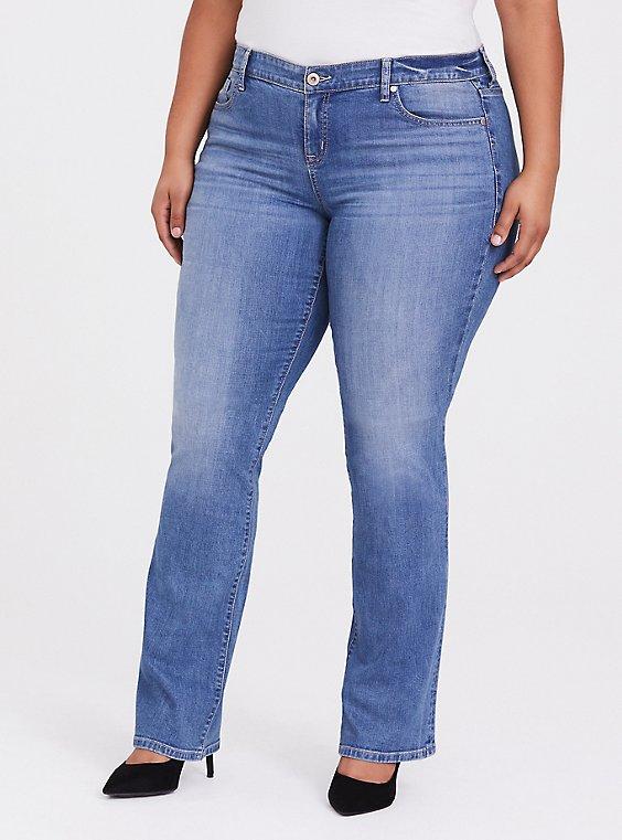 Plus Size Slim Boot Jean - Vintage Stretch Light Wash, SOUTHERN BLUES, hi-res