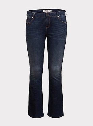 Slim Boot Jean - Vintage Stretch Dark Wash, EQUINOX, flat