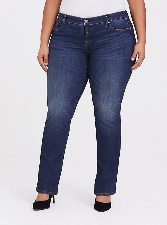 Slim Boot Jean - Vintage Stretch Dark Wash, , hi-res
