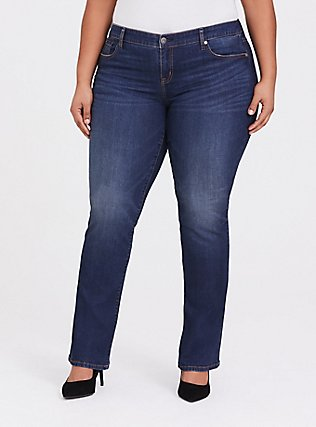 Slim Boot Jean - Vintage Stretch Dark Wash, EQUINOX, hi-res