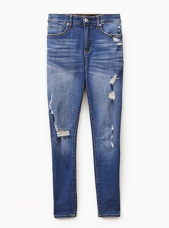Sky High Skinny Jean - Premium Stretch Medium Wash, , flat