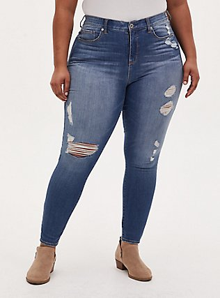 Sky High Skinny Jean - Premium Stretch Medium Wash, HEARTTHROB, hi-res