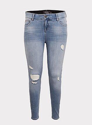 Bombshell Skinny Jean - Premium Stretch Light Wash, KINGS CROSS, flat