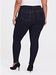 Plus Size Bombshell Skinny Jean - Premium Stretch Dark Wash, NEWCASTLE, alternate
