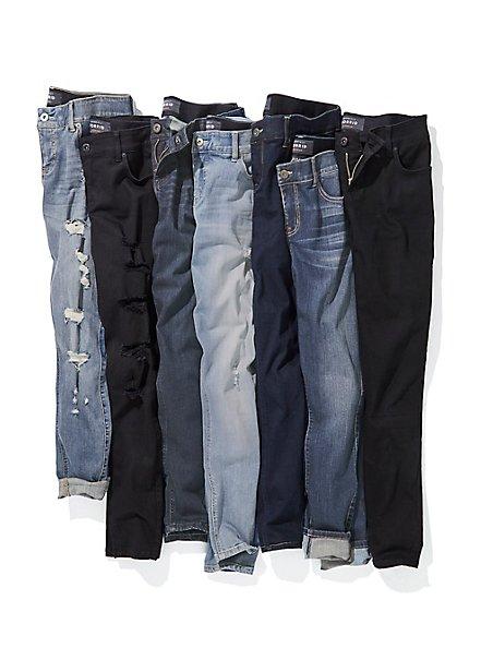 Bombshell Skinny Jean - Premium Stretch Dark Wash, NEWCASTLE, alternate