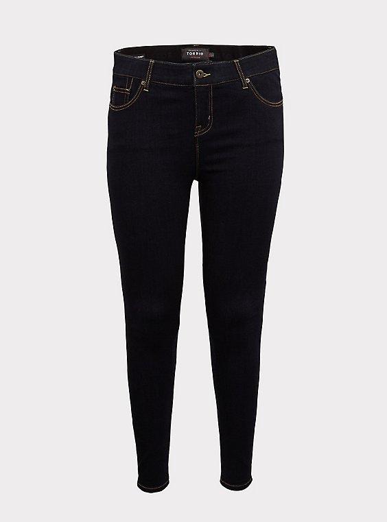 Bombshell Skinny Jean - Premium Stretch Dark Wash, , flat