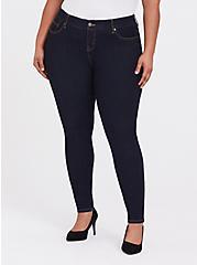 Plus Size Bombshell Skinny Jean - Premium Stretch Dark Wash, NEWCASTLE, hi-res
