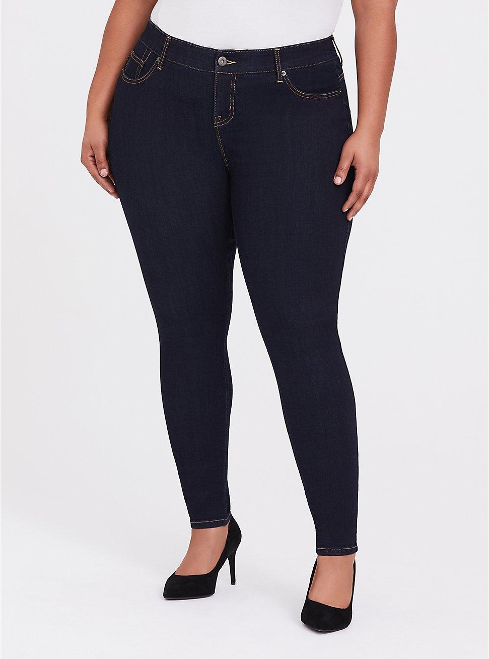 Bombshell Skinny Jean - Premium Stretch Dark Wash, , hi-res