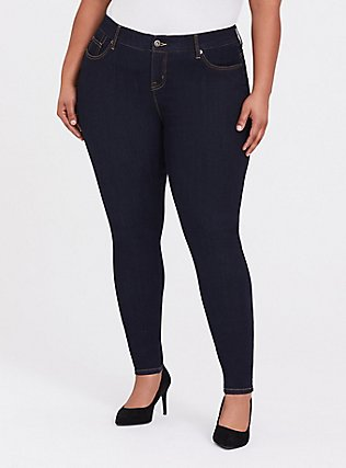 Bombshell Skinny Jean - Premium Stretch Dark Wash, NEWCASTLE, hi-res