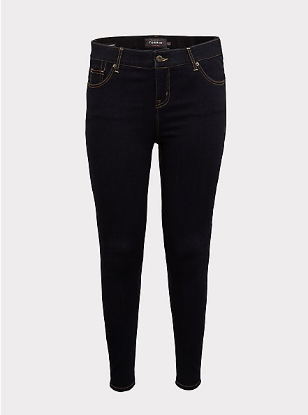 Bombshell Skinny Jean - Premium Stretch Dark Wash, NEWCASTLE, hi-res