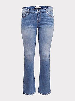Slim Boot Jean - Vintage Stretch Light Wash, MONTECITO, flat