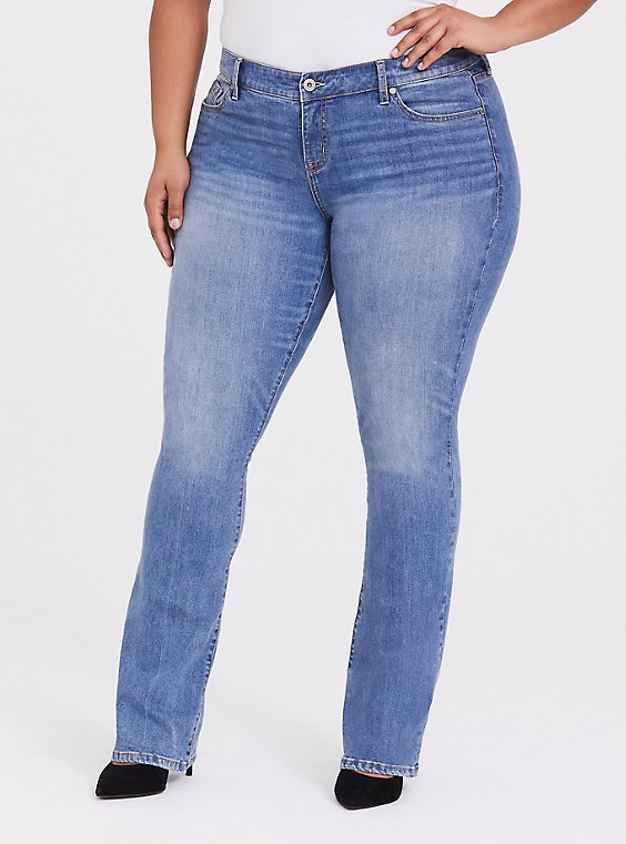 Plus Size Slim Boot Jean - Vintage Stretch Light Wash, , hi-res