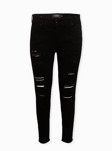 Bombshell Skinny Jean - Premium Stretch Black, BLACK, hi-res